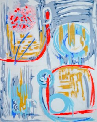 Capture The Moon, 24 x 30, acrylic on canvas