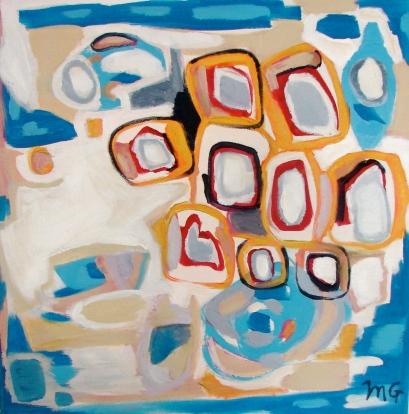 September, acrylic on canvas, 24 x 24