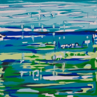 Ilha, 24 x 24, acrylic on canvas