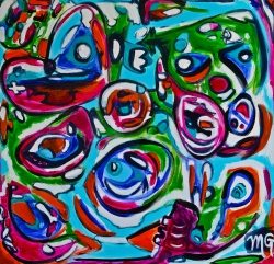 Lisbon, 36 x 36, acrylic on canvas