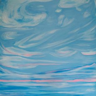 Sea and Sky, 36 x 36, acrylic on canvas