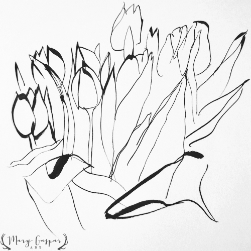 BWTulipSketch-2